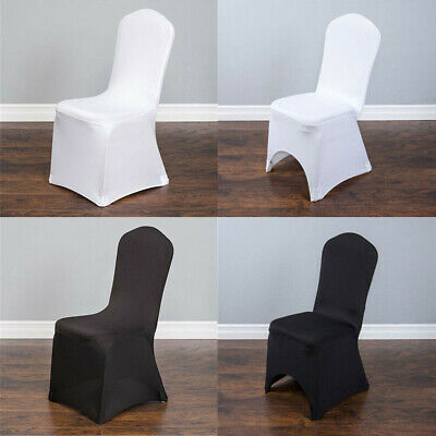 £99.97 • Buy Universal 50 / 100 Pcs Polyester Spandex Wedding Chair Covers Arched Front Decor