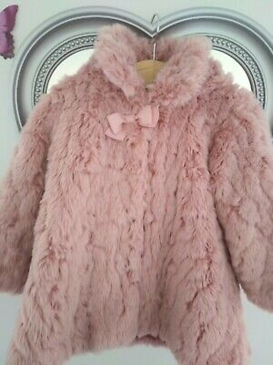 £13 • Buy Baby Pink Fur Coat Size 12/18 Months, Great Condition, Baby Clothing