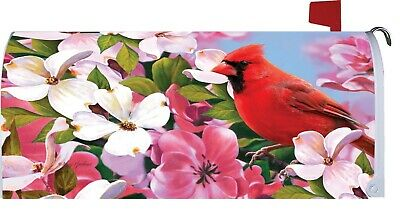 $18 • Buy Cardinal Dogwood Flower Magnetic Mailbox Cover