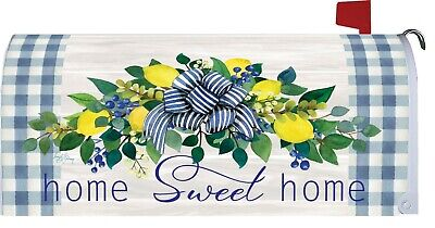$18 • Buy Home Sweet Home Lemon Wreath Magnetic Mailbox Cover