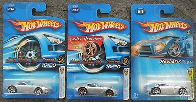 $4.99 • Buy Hot Wheels 2005 First Editions Realistix Ford Shelby GR-1 Concept Lot Of 3