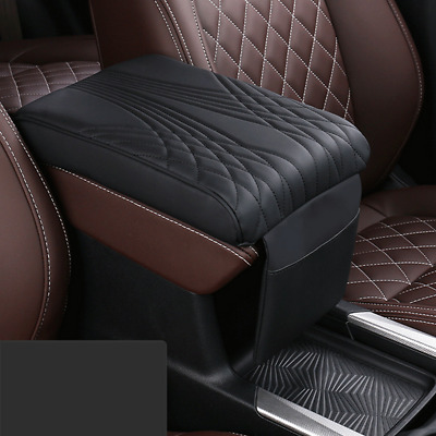 $24.20 • Buy Car Accessories Auto Armrest Pad Cover Center Console Box PU Leather Cushion Mat