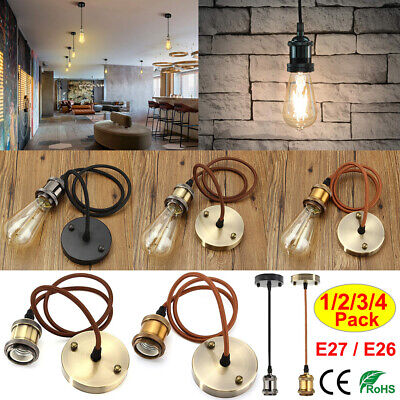 £9.19 • Buy Vintage Chandelier Hanging Lamp Cable Ceiling Plate E26E27 Retro Style Light Kit