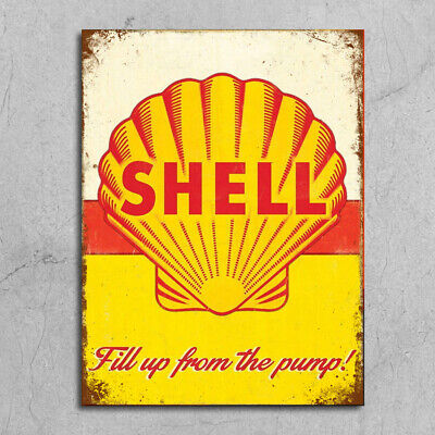 £4.99 • Buy Metal Wall Multi Signs Plaques Garage Mancave Vintage Retro Style Shed Car Shell