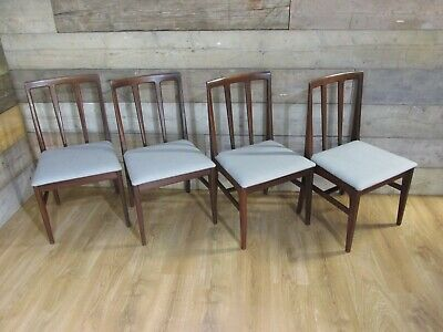 £225 • Buy Set Of 4  Mid Century Vintage Retro Teak Danish Style Dining Chairs By Younger