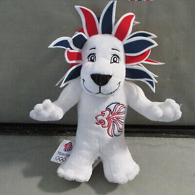 **LOOK** Stunning Genuine PRIDE The LION Plush Toy GB Olympics Mascot 2012 Games • 11£