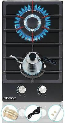 AU126.38 • Buy 12 Inches Gas Stove High Gas Cooktop Gas Hob Stove Top 2 Burners Gas Range Doubl