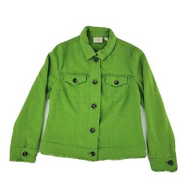 AU34.78 • Buy Chicos Womens Jacket 0 Green Long Sleeve Button Up