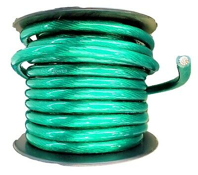 AU78.19 • Buy IMC AUDIO 0 Gauge 50' Ft Power Wire Cable Green Power Car Audio Amp Awg