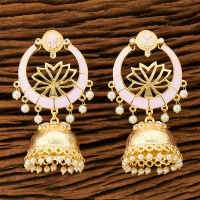 AU30 • Buy Indian Jhumka Earrings | Lotus Jhumkas