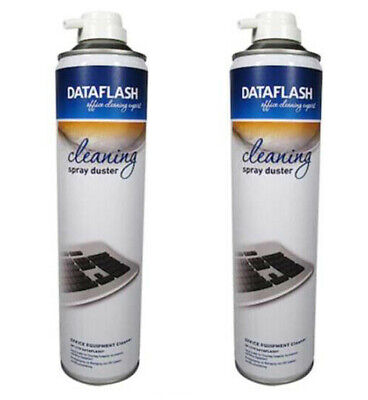 £9.99 • Buy Compressed Air Duster 600ml Spray Can Dust Blower Gas Cleaner PC Keyboard X 2
