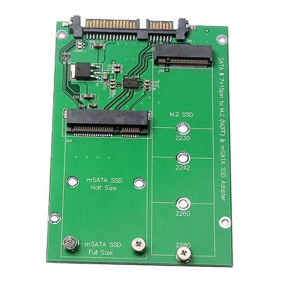 AU10.94 • Buy 2.5 Inch M.2 NGFF MSATA 2-in-1 Multiple Sized SSD To SATA III Converter CardH7D3