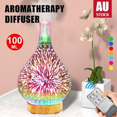 AU30.50 • Buy Aromatherapy Diffuser 3D Firework Aroma Essential Oils Ultrasonic Air Humidifier