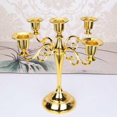 £14.83 • Buy Gold Candelabra Candle Holder 5 Arm Table Candlestick Xmas Wedding Dining Decor