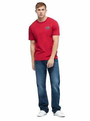 TRUE RELIGION Men's Ruby Red Buddha Logo Short Sleeve T-Shirt XXL BNWT RRP59 • 17.65£