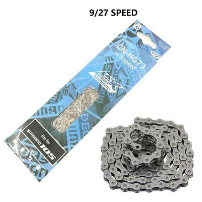 AU18.22 • Buy For Shimano HG73 9 Speed Chain Mountain Bike Chain Silver 116 Links AU