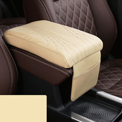 $26.89 • Buy Beige Car Armrest Cushion Cover Center Console Box Pad Protector Accessories