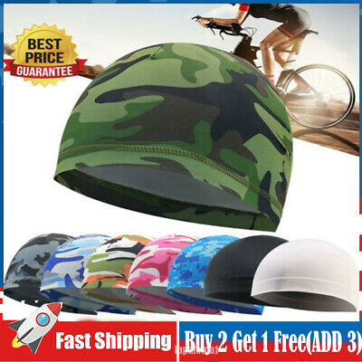 £4.19 • Buy Cycling Skull Cap Quick Drying Hat Motorcycle Helmet Liner Breathable Sun Hat UK