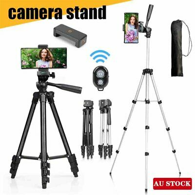AU14.05 • Buy Professional Camera Tripod Stand Mount + Phone Holder For Phone IPhone Samsung