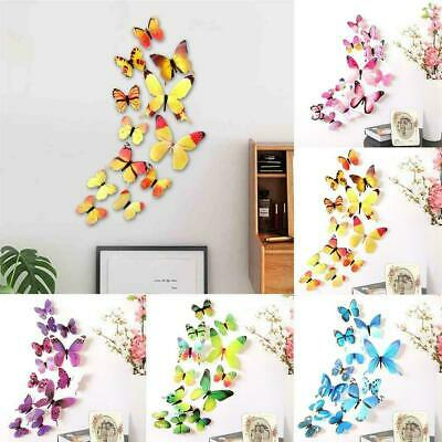 AU2.39 • Buy 3D Butterfly Wall Stickers & Magnetic Decals Home Room Decor New Best B0P2