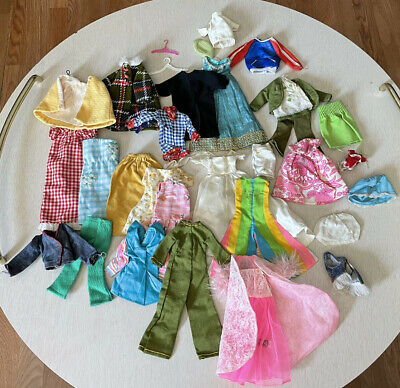 $ CDN81.46 • Buy Huge Lot Of Vintage 60s & 70s Barbie Doll Clothes Some Handmade And Imperfect