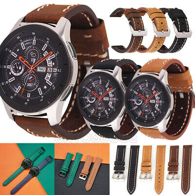 AU9.95 • Buy For Samsung Galaxy Watch 3 41mm 45mm / Active 2 Genuine Leather Watch Strap Band