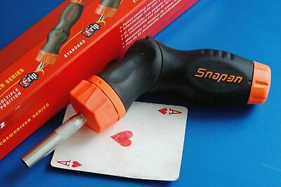 AU117.35 • Buy Snap-on Tools Soft Grip Multiple 5 Position Ratcheting Magnetic Screwdriver NEW