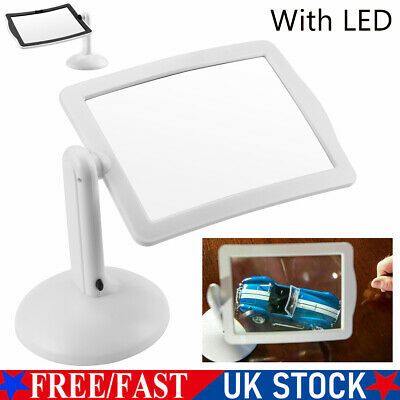 £8.99 • Buy Large LED Magnifying Glass Stand With Light Lamp Hands Magnifier Foldable Clamp