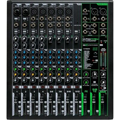 $290.39 • Buy Mackie ProFX12v3 ProFX12v3 12-Channel Professional Effects Mixer With USB LN