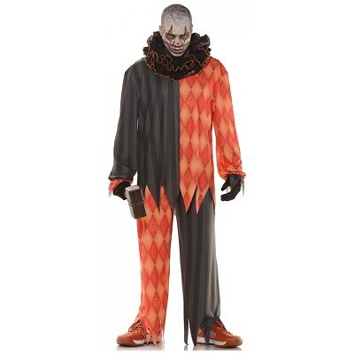$27.99 • Buy Scary Clown Costume Adult Evil Circus Freak Halloween Fancy Dress Outfit