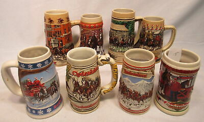 $ CDN96.71 • Buy Lot Of 8 Budweiser Beer Stein Landmarks A Collector CS386 Limited B Holiday 1995