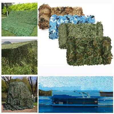 Camo Net Hunting Shooting Camouflage Army Camping Netting Hide Woodland Netting • 5.99£