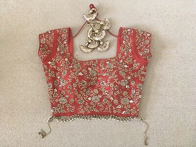 £190 • Buy Red And Gold Indian Bridal Lengha