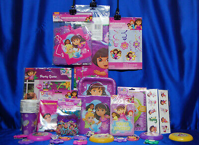 £36.35 • Buy Dora The Explorer Party Set # 29 Cups Plates Napkins Tablecover Invites Thanks +
