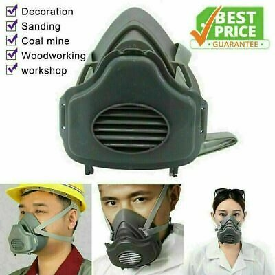 £8.95 • Buy Half Face Cover Gas Respirator Dust Mask Filter Cotton Cartridge Dust-proof