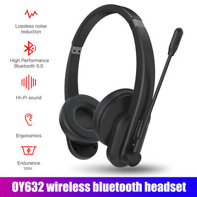 £19.22 • Buy Bluetooth Headphones With Microphone Wireless Headset Noise Cancelling GOO