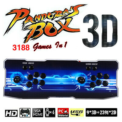 AU190.43 • Buy Pandora's Box 12 3188 IN1 Games 4 Player Retro Arcade Console USB VGA For TV PC/