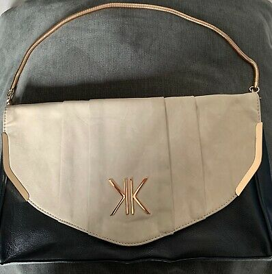 £18 • Buy Brand New Kardashian Kollection Black And Nude Large Clutxh Bag With Gold Chain