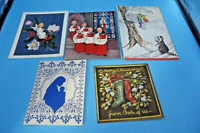 $ CDN8.75 • Buy Vintage Christmas Cards Five (5) Never Used Nos