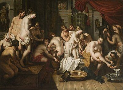 $ CDN312.99 • Buy Perfect Oil Painting Handpainted On Canvas Esther's Toilet In The Harem   @N7755