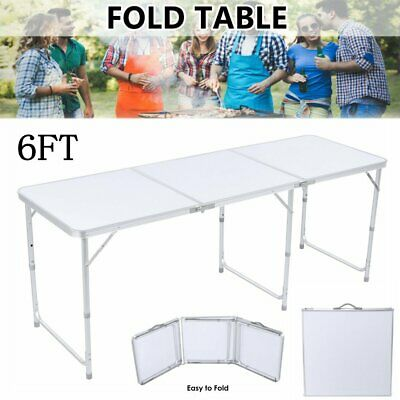 £41.99 • Buy 6FT Folding Table Aluminium Indoor Outdoor Picnic Party Camping Portable Desk UK