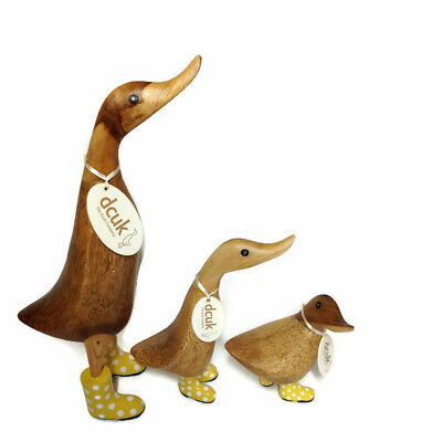 £61.95 • Buy DCUK, The Duck Company - Natural Spotty Welly Duck Family - 3 Pc - Yellow
