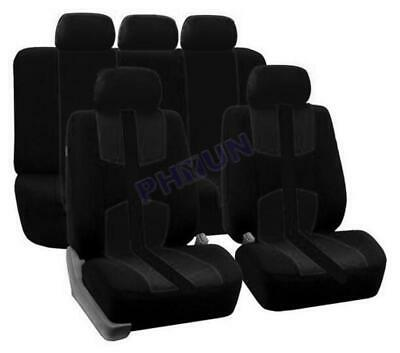 AU41.28 • Buy Front + Rear Auto Seat Covers Universal For 5-seat Car Black All Seasons General