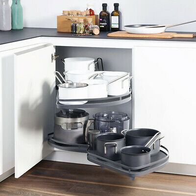 £135.95 • Buy Kitchen Corner Unit Pull Out Shelf Cabinet Carousel Trays Right Hand Soft Close