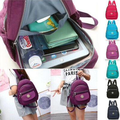AU22.68 • Buy Small Waterproof Backpack Women's Purse Nylon Shoulder Rucksack Mini Travel Bag