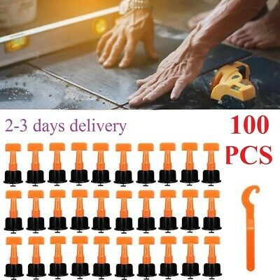 £10.99 • Buy 100pcs Floor Wall Tile Leveler Tools Reusable Tile Spacers Levelling System Cons