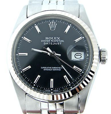 $ CDN5613.19 • Buy Rolex Datejust Stainless Steel/18K White Gold Watch Jubilee Band Black Dial 1601