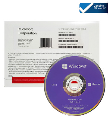$ CDN39.89 • Buy WlNDOWS 10 64 BIT DVD + PRODUCT KEY GENUINE FACTORY SEALED