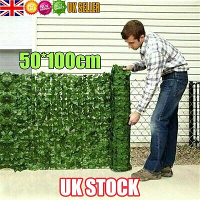 £7.28 • Buy Artificial Faux Ivy Leaf Hedge Panels Roll Privacy Screening Garden Fence UK