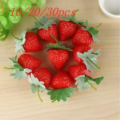£4.14 • Buy Artificial Strawberry Fake Fruit Decor Kitchen Food Table Display Home Decora